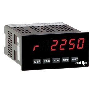 Red Lion PAXR Rate Panel Meter, 6 Digit LED Display, 85-250 VAC