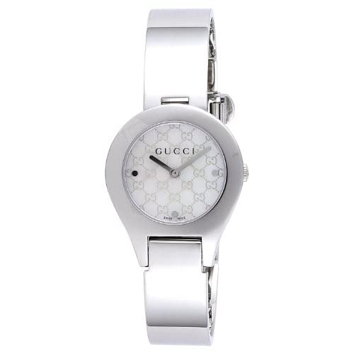 [グッチ]GUCCI 腕時計 6700 ホワイトパール文字盤 ステンレスケース バングルタイプベルト YA067506 レディース 【並行輸入品】
