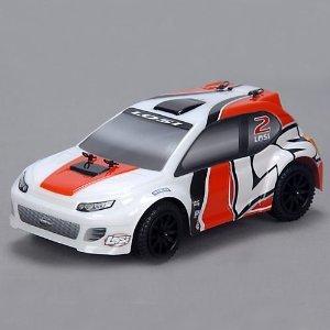 1/24 4WD Rally Car RTR: Orange/White
