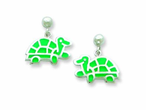 Sterling Silver Turtle Resin Earrings LIFETIME WARRANTY