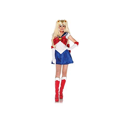 Leg Avenue Sailor Moon Dress, Choker, Gloves, Headpiece, Hair Clips-Sm84007 (L)