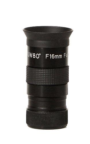 Olivon Super Wide 80-Degree 1 1/4-Inch Eyepiece, Black, 16Mm