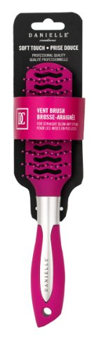 Danielle Soft Touch Vent Hair Brush, Pink front-230574