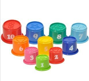 Big Dragonfly Children's Educational Toys a Set of 10 Fun and Colorful Stacking Cups Safe and Interesting Baby Learning Toy