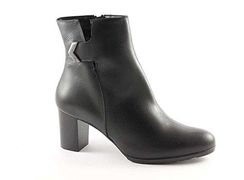 MELLUSO Z570 nero scarpe donna stivaletti tronchetti tacco zip laterale 39
