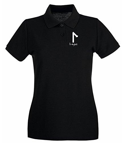 T-Shirtshock - Polo Donna T0297 laguz religioni celtic, Taglia L