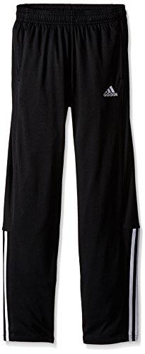 adidas Big Boys Clima Block Pant, Black/White, Medium