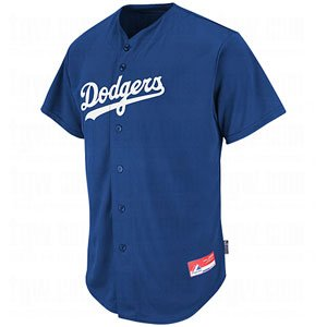 "Los Angeles Dodgers ""MLB COOL BASE"" Full Button Major League Baseball Replica Jersey"