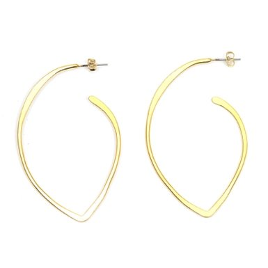 Gold Point Hoops by Sibilia