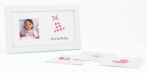 Pearhead First Birthday Frame, Girl - 1