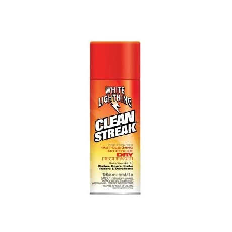 White Lightning Clean Streak Dry Bicycle Degreaser - 12. oz/350ml Aerosol - C50120102
