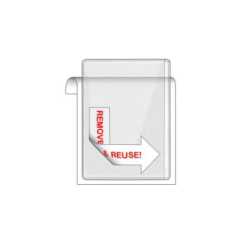 Storesmart® Remove & Reuse - 10 Peel & Stick Business Card Holders - Open Long Side - Vinyl Plastic (Psr222L10) front-538183