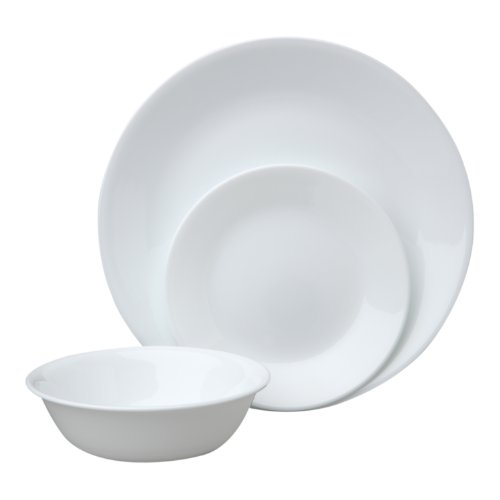 Corelle Winter Frost 18-Piece Dinner Set, White