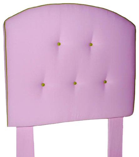 Image of Southeastern Kids Curved Tufted Headboard Light Pink and Apple Green (1111/0507)