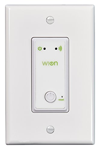 WiOn Indoor Wi-Fi Light Switch, Wireless In-Wall Switch, Programmable Timer 50052 (Switch Timers compare prices)
