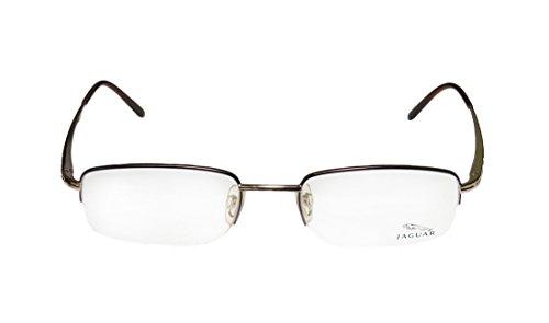 Jaguar 3371 Mens Designer Half-rim Eyeglasses/Eyeglass Frame (52-19-135, Gold / Plum / Brown) (Eyeglasses Insert compare prices)