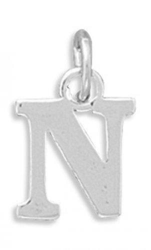 MMA Silver - Greek Alphabet Letter Charm - Nu