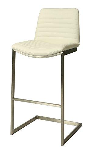 Pastel BX-210-30-SS-978 Buxton Barstool, 30-Inch, Ivory