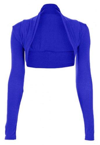 Funky Boutique Womens Long Sleeved Bolero Shrug Size 8-22 (20-22 Xxl, Electric Blue)