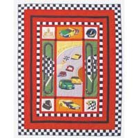 "Race Car Quilt Queen/Full 85""x 95"" QQRCCR by Patch Magic"