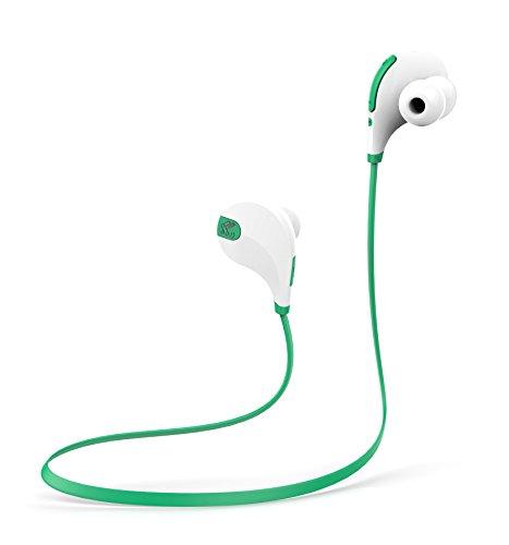 SoundPEATS(サウンドピーツ) ワイヤレス スポーツ ヘッドセット QY7 (ホワイト/グリーン)