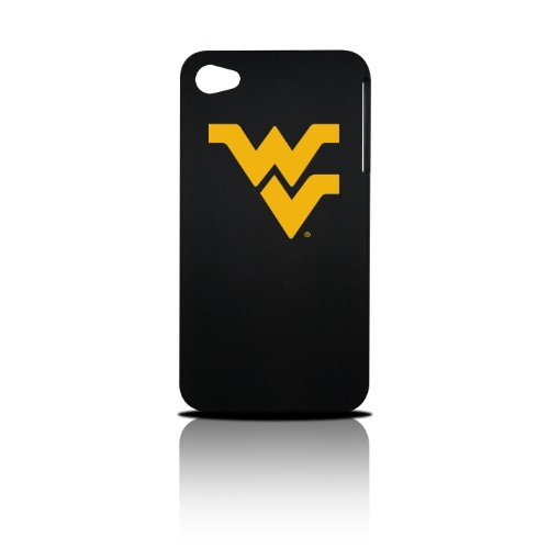 Tribeca Gear FVA6695 Hard Shell Case for iPhone 4, West Virginia University - 1 Pack - Retail Packaging - Black