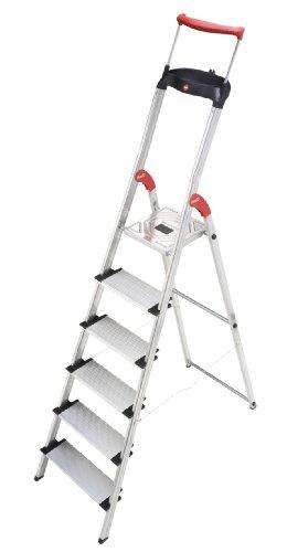 Hailo XXR 150 kg Capacity Aluminium Deluxe Comfort Steps (6 Steps)