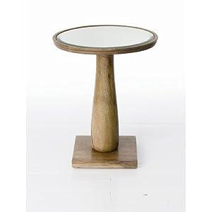 Burgess Side Table in Light Walnut