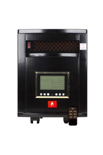 Premium Black 1,000Sq Ft Indoor Quartz Infrared Atlas Heater With Remote Control (6 Quartz Emitters!) & Two Year Warranty!
