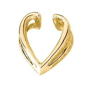 14K Yellow Gold ENHANCER Pendant Enhancer Ring Size 6