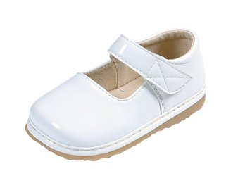 Girls' Patent Mary Jane Color: White, Size: 8 (Toddler)