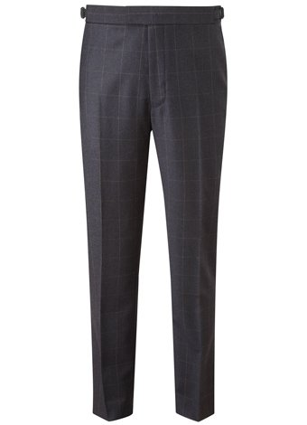 Austin Reed Contemporary Fit Navy Windowpane Trouser REGULAR MENS 32