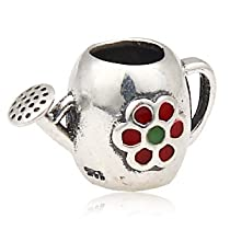 European Sterling Silver Charm Bead Watering Can