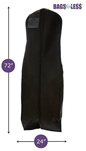 Brand New Black Breathable Wedding Gown Dress Garment Bag (Garment Wedding Dress Bag compare prices)