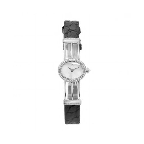 Milus Women's PER009 Persea Diamond Accented Silver Dial Watch