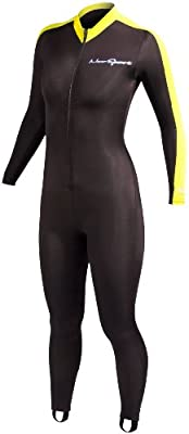 NeoSport Wetsuits Full Body Sports Skins - Yellow Trim - Diving, Snorkeling & Swimming
