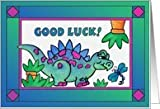 Good Luck! DINASAUR greeting card Card