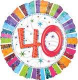 Amscan International Radiant Birthday 40 Foil Balloon