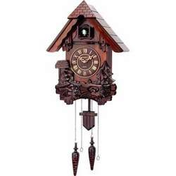 Kassel Cuckoo Clock Hand Carved Wooden Accents Precise Quartz Movement Requires 2 D Batteries from KASSEL