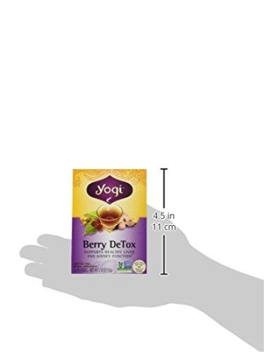 Yogi Berry Detox Caffeine Free 16 Tea Bags Net Wt 1 12