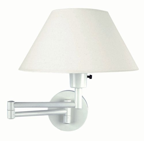 Swinger White Swing Arm Wall Lamp - LS-1171WHT