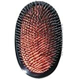 MASON PEARSON Large Military Style Bristle & Nylon Popular Hair Brush with Cleaner (Model: BN1M)