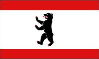 Stockflagge Berlin ohne Krone 30 * 45 cm ohne Stock von Yantec