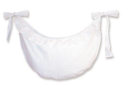 Trend Lab Pique Toy Bag in White