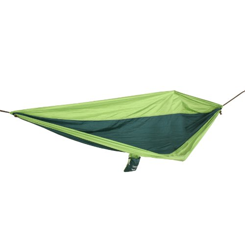 Castaway PA-7001 Travel Parachute Hammock, Light and Dark Green