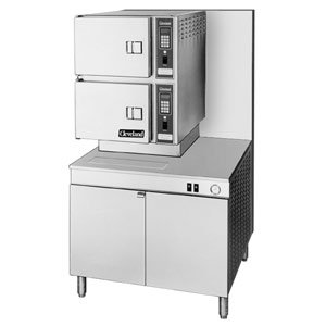 "Natural Gas Cleveland 36-CGM-300 Classic Series Six Pan Gas Convection Floor Steamer with 36"" Boiler"