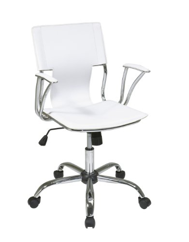 Avenue Six Dorado Office Chair. White PVC Material.