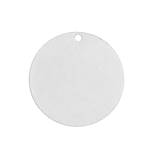 30 Silver Plated Copper Round Circle Stamping Blank Tags for Metal Stamping 20mm or 6/8 Inch Diameter
