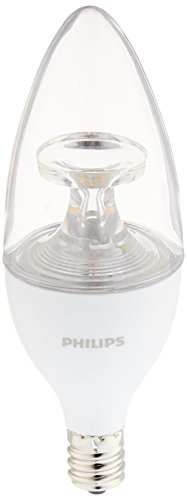 Philips 40W Equivalent Soft White B11 Candelabra Base LED Light Bulb (3-Pack) (40 Watt Candelabra Bulbs compare prices)