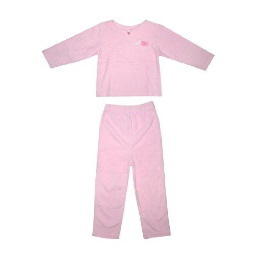 2 PCS SET: NFL New England Patriots Girls Fleece Sleepwear Pajama Top & Pants Set